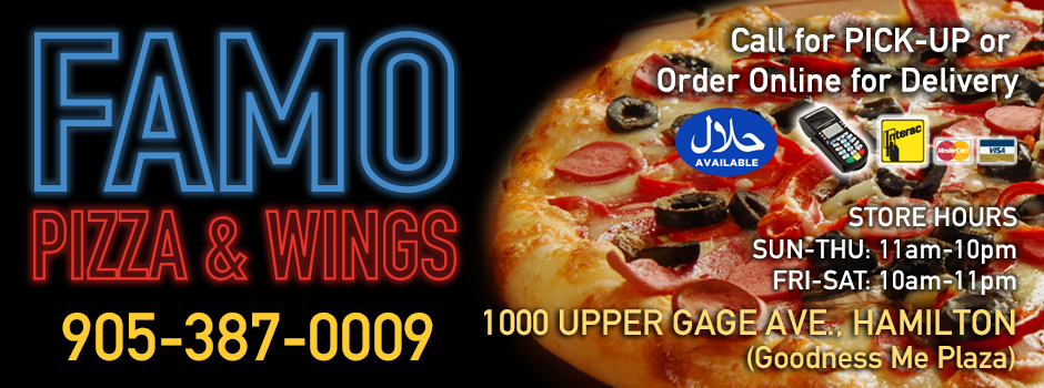Famo Pizza Wings - Pizza delivery in Hamilton